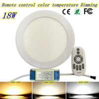Dimmable Ultrathin 18w 2 4G Led Panel Light High Bright Kitchen Bathroom Bedroom White Ceiling Downlighting