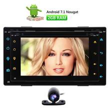 Wifi Android 7.1 Car DVD CD player 2 din Stereo Navigation support Bluetooth OBD Subwoofer USB with Free Camera&Remote Control