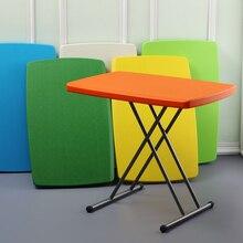 Простой складной обеденный стол бытовые столы пластиковые складные столики