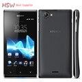 Venta caliente original teléfono abierto original sony xperia j st26 st26i SISTEMA OPERATIVO Android 4.0 GPS WIFI 5mp móvil Envío Gratis