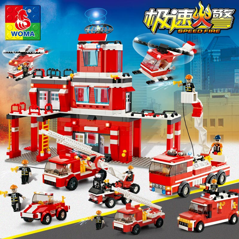 Military Series Police Kids Puzzle Assembled City Weapons Fire Truck Dolls Boy Toys Compatible with Legoe jie star fire ladder truck 3 kinds deformations city fire series building block toys for children diy assembled block toy 22024
