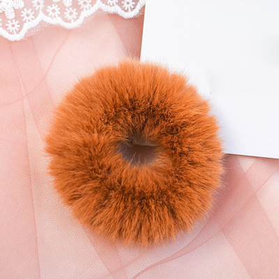 Новое поступление, зимняя эластичная резинка для волос, Тиара для волос для взрослых, простая однотонная мягкая плюшевая повязка для волос, повязка для волос для женщин, аксессуары для волос - Цвет: Brown