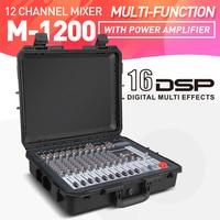 Good quality, Clean sound!!! 12 Channels 500 Watt Power amplifier Mixer Digital Portable Audio Mixing Console Phantom Power USB