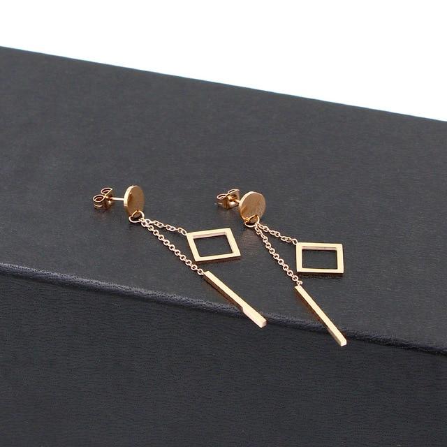 Модные ювелирные украшения розовое золото Круглые Подвесные