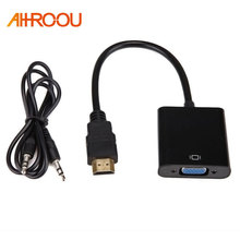 HDMI to VGA Adapter Digital to Analog Video Audio Converter Cable HDMI 2 VGA Connector For
