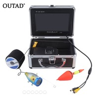 OUTAD Professional Video Fish Finder 1000TVL Lights Controllable Underwater Fishing Camera Kit Lake Under Water Video