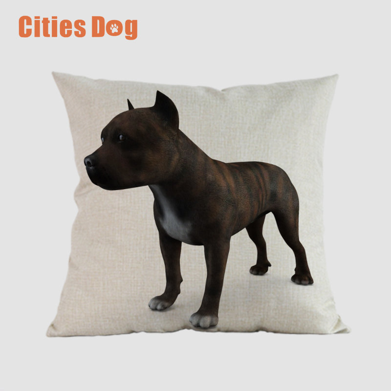 Staffordshire Bull Terrier Staffie Dog Puppy Pup Cushion Cover Pillow Case