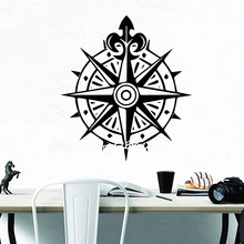 NEW Compass Wall Art Decal Wall Stickers Material For Kids Room Living Room Home Decor Removable Decor Wall Decals  muursticker drop shipping cabaret wall art decal wall stickers pvc material for kids room living room home decor removable decor wall decals