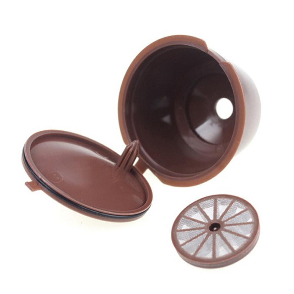 1Pc Reusable Coffee Capsule Filter Pod Cup Filter Bracket Adapter For Nescafe Dolce Gusto Machines Brown Color