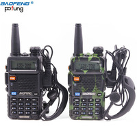 2pcs BaoFeng UV 5R 10km Walkie Talkie VHF UHF 136 174Mhz 400 520Mhz Dual Band CB
