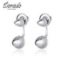 Dorado Double Sided AAA Zircon Bullet Shaped Stud Earrings Unisex Cone Stud Earring For Women Men