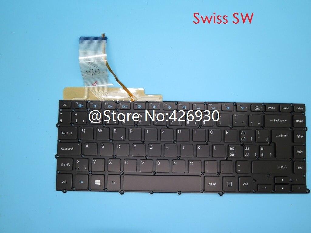 Keyboard For Samsung NP900X4B NP900X4C NP900X4D Swiss SW Belgium BE France FR Czech CZ Kingdom UK Turkey TR Portugal PO Backlit