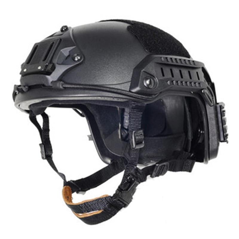 ATAIRSOFT Tactique SWAT Style Militaire de larm/ée Combat Rapide de Type MH Casque Airsoft Chasse CQB Tournage Vitesse avec Goggle