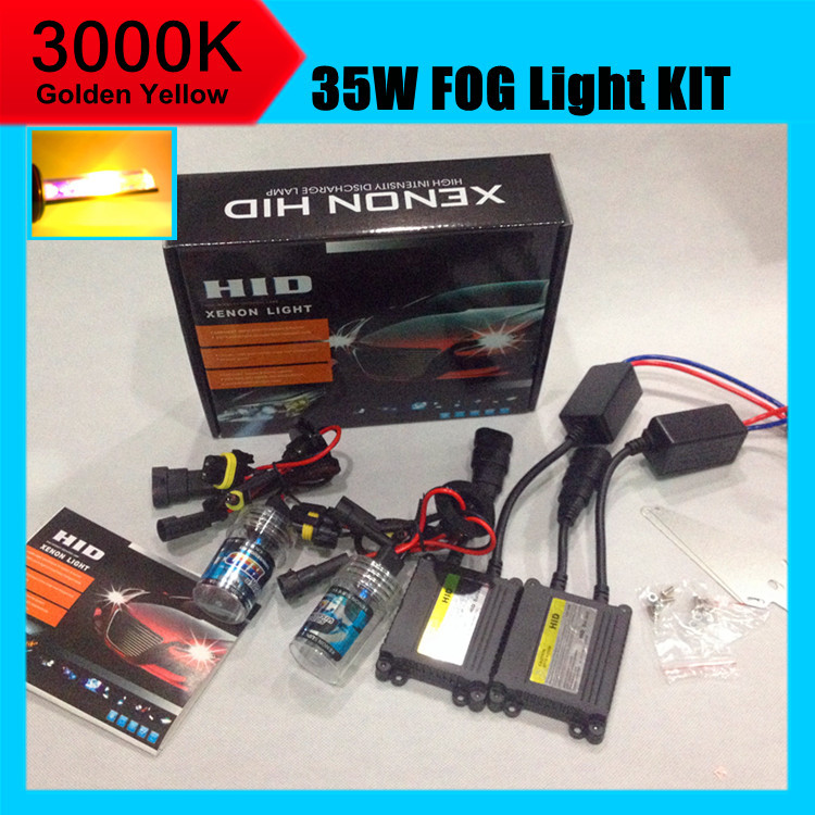 ФОТО 3 set DHL ship 3000K golden yellow xenon hid kits H11 auto hid xenon kit  for car styling Accessories 2014 Luxgen 7 SUV fog lamp