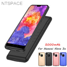 NTSPACE 5000mAh Battery Charger Case For Huawei Nova 3e Backup Cases PowerBank Back Cover