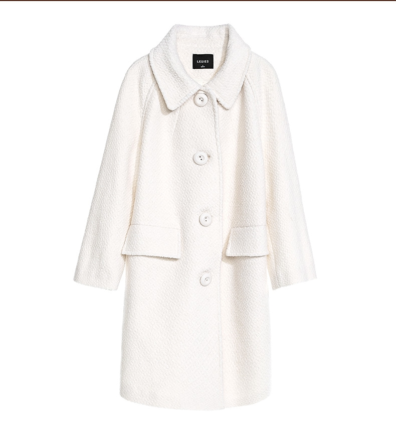 Aliexpress.com : Buy LESIES New Long Jackets Women White Wool Coat ...