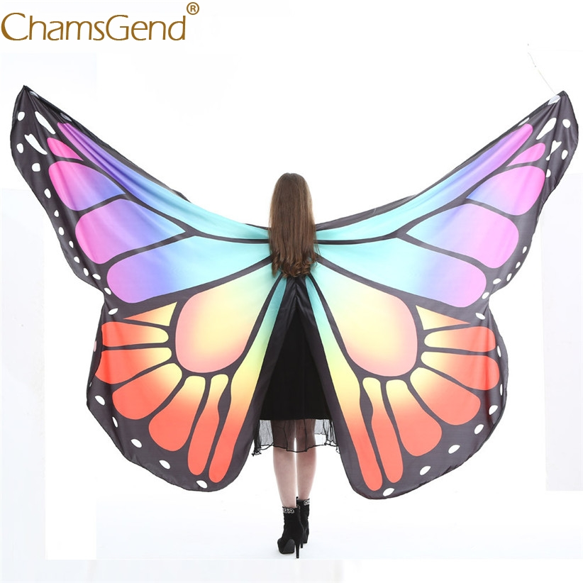 0bf627b5577 US $12.6 29% OFF|Chamsgend Newly Design Large Butterfly Wings Pashmina  Shawl Women Girls Poncho Costume Accessory For Dancing Show No Stick  80223-in ...
