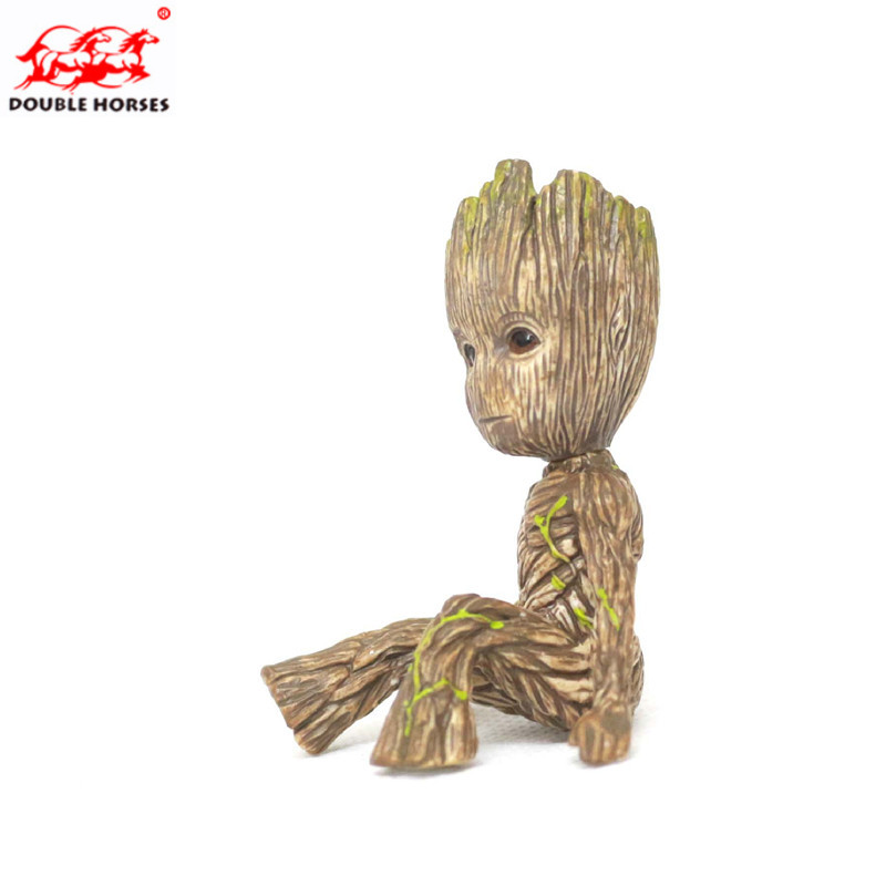 6CM Mini Guardians Galaxy Sitting Tree Man Action Baby Groot Model Toy Desk Decoration Gifts Cartoon Model Action Figure Doll