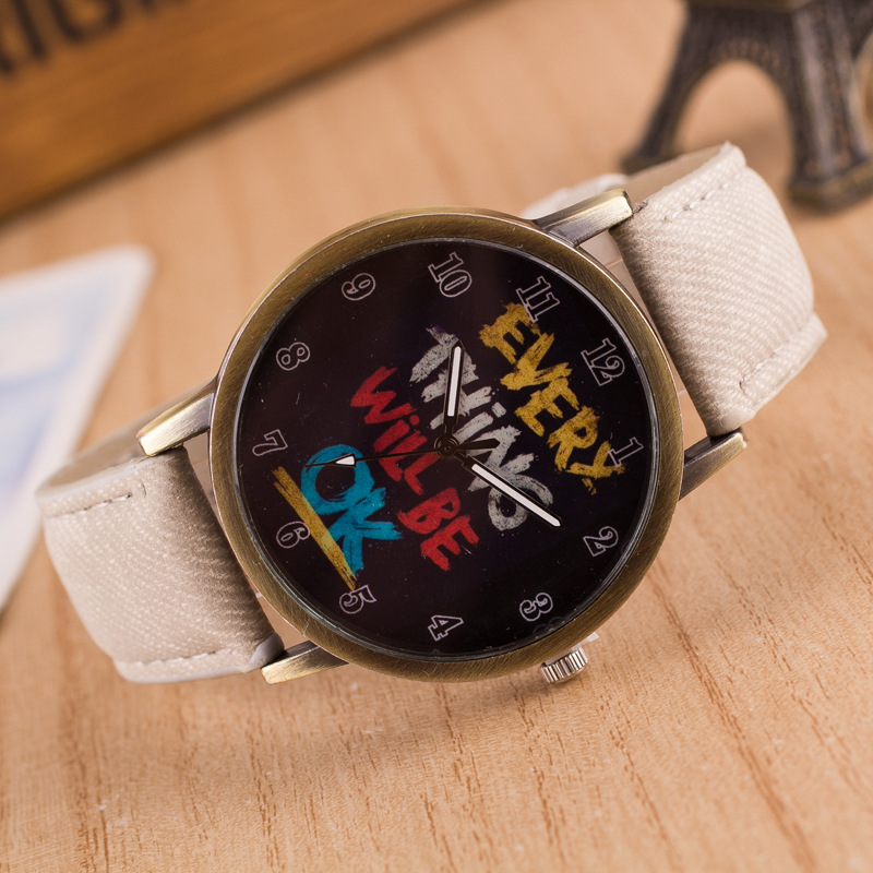 <font><b>Montre</b></font> <font><b>Femme</b></font> Hot Sale New <font><b>Fashion</b></font> doodle Women quartz watch <font><b>Unisex</b></font> white Canvas Band Casual Sport Digital Watch <font><b>Relojes</b></font> <font><b>Mujer</b></font> image