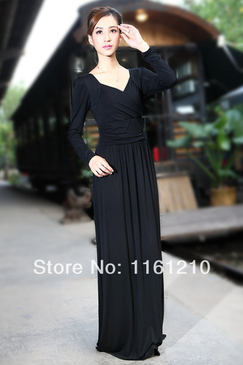 f5e0d7c668eb Black Petite Tall Modal Formal Evening Party Maxi Dress Long Gown Dinner  graduation birthday -in Dresses from Women's Clothing on Aliexpress.com |  Alibaba ...