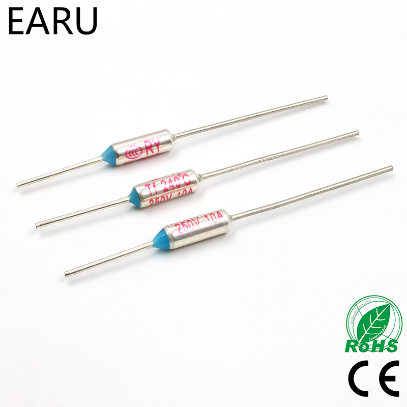 5Pcs Elcut Umi Microtemp Thermal Fuse Axial Type 225R Tf Cutoff 150℃ 5A 250V gt