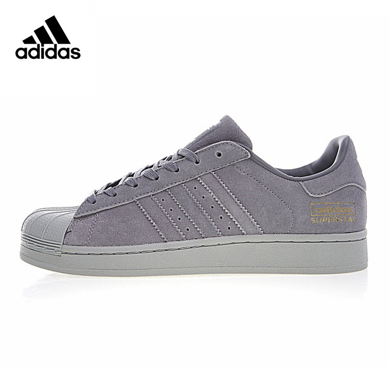 more photos e6b13 2dbcc Adidas Originals SUPERTSAR Men Skateboarding Shoes , Grey, Wrap around  Waterproof Shock absorbing Wear resistant BZ0216-in Skateboarding from  Sports & ...