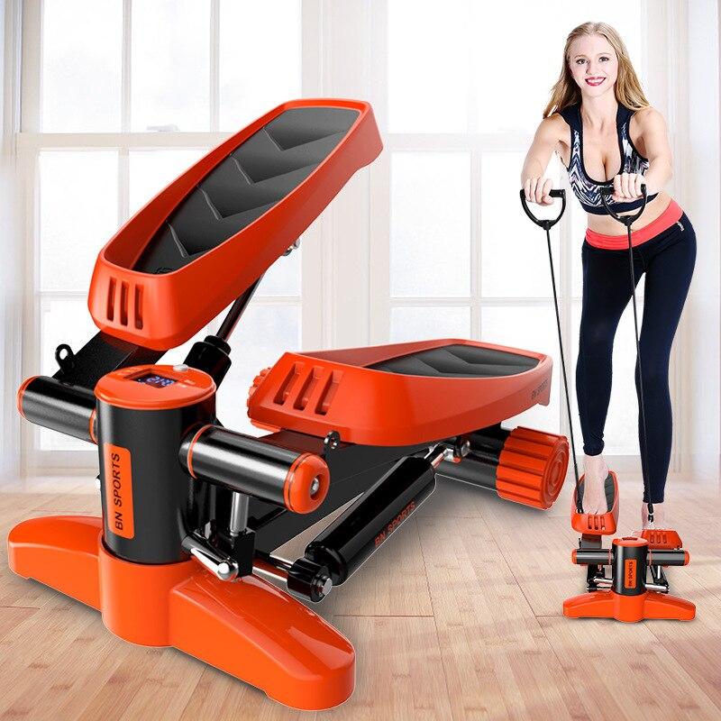 Mini Tapis Roulant Steppers Pédale Ménage Calme Hydraulique Steppers Équipement de Fitness À Domicile pour Perdre Du Poids Jambe Minceur