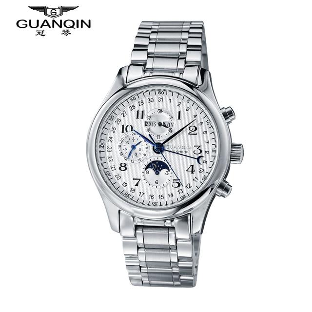 Top Brand Luxury Men Watch GUANQIN Automatic Mechanical Watch Waterproof Analog Steel Mens Wristwatches Relogio Masculino Reloj
