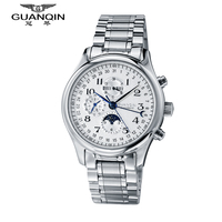 Watches Men Top Brand Luxury GUANQIN Automatic Mechanical Watch Men Waterproof Analog Wristwatches Stainless Steel Watch