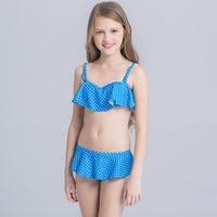 2018 Trẻ Em Đồ Bơi Trẻ Em Vào Mùa Hè Hai Miếng Đi Men Swimsuit Girl Bikini Meisjes Bikini Beach Mang Mùa Hè Áo Tắm Cho Cô Gái