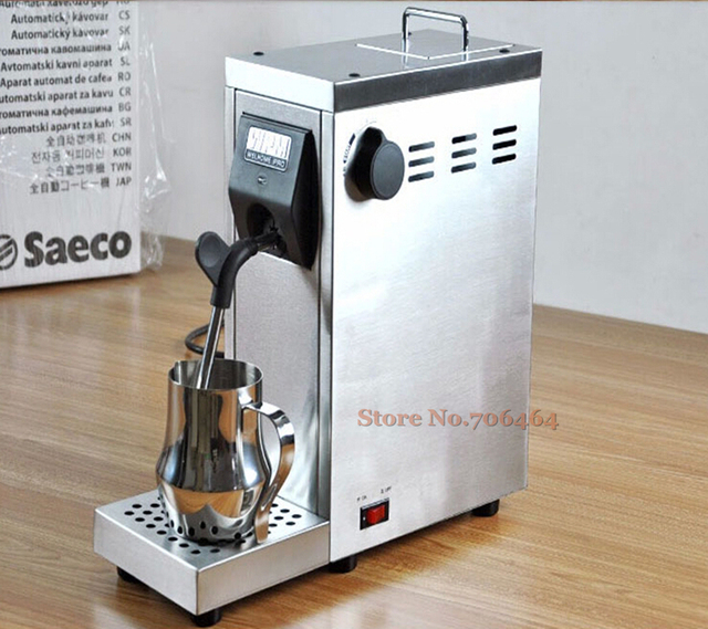 Commercial Portable Fully Automatic Milk Steamer Coffee Frother Electric Frothing Coil Cuccino Latte Foaming