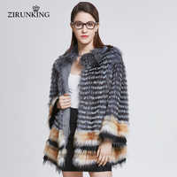 ZIRUNKING Dame Echt Fuchs Pelz Mantel Frauen Natürlichen Pelz Jacke Mode Fuchs Pelz Kleidung Mantel Weibliche Pelz Oberbekleidung ZC1830