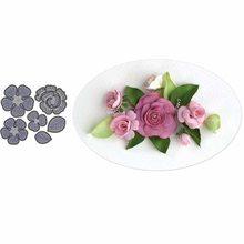 Bi fujian 6pcs/set 3D Rose Flowers Leaf Metal Cutting Dies Stencils for 2019 DIY Scrapbooking photo album Embossing Paper Cards