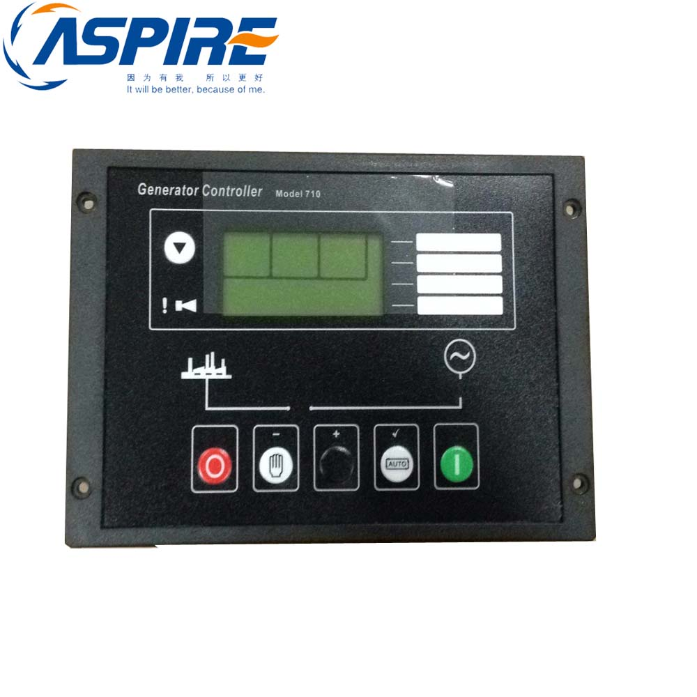 free shipping Generator Controller dse710 Auto Start Control Panel fast shipping 6 pins 5kw ats three phase 220v 380v gasoline generator controller automatic starting auto start stop function