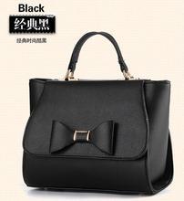 Sweet lady 's candy colors handbag women fashion casual OL versatile daily single shoulder bags Korean style bow handbag