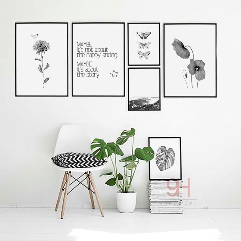 Skandináv stílusú, vászon művészeti nyomtatás, poszter, - Lakberendezés