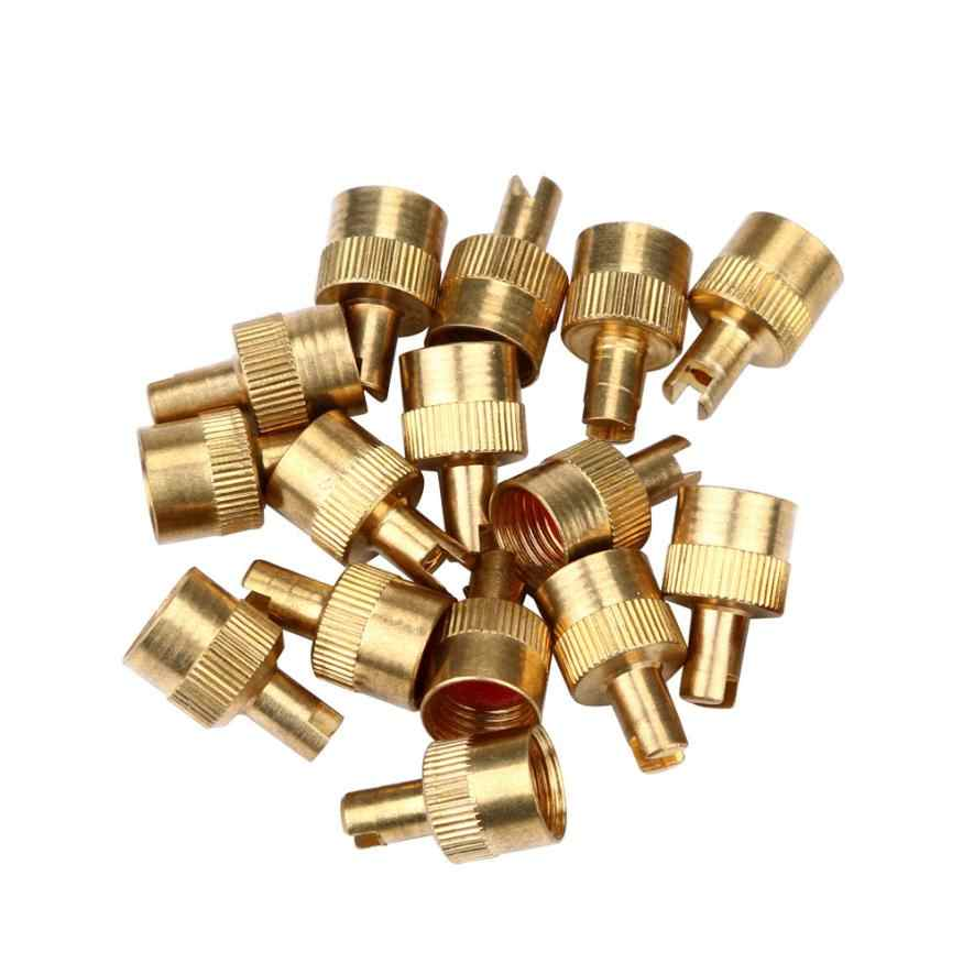 Car Tire Valve Cap NEW 8 Metal Slotted Head Valve Stem Caps With Core Remover Tool Motorcyle/Car           d19