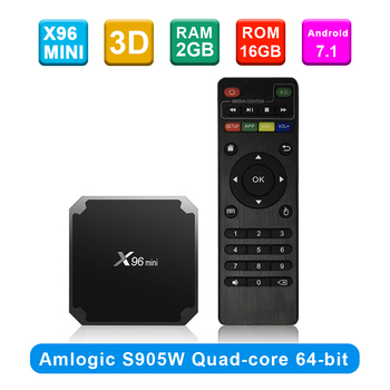 X96 mini Android 7.1 X96mini Smart TV BOX S905W Quad Core support 2.4G Wireless WIFI Set Top Box+IR CABLE Streaming Media Player