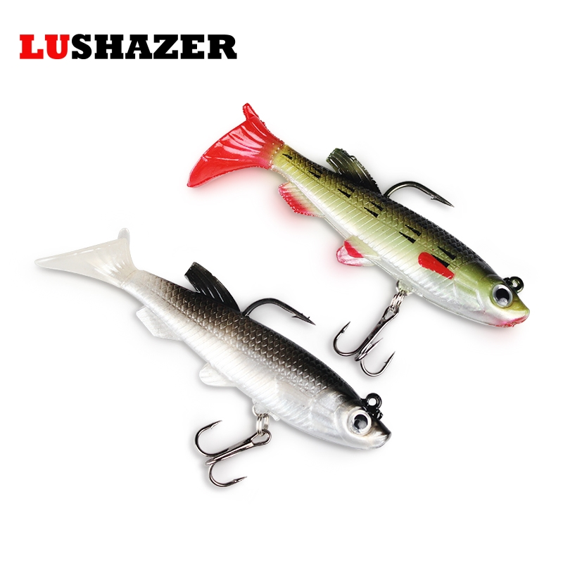LUSHAZER Soft bait jigging lure 3d augen 8cm 14g iscas artificiais fishing lures china silicone bait hook carp fishing tackle lushazer fishing lure minnow bait 18g hard lures carp fishing iscas artificiais 2016 wobbler crankbait cheap sea fishing tackle