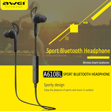 Awei A610BL Wireless Bluetooth Earphones Sports Earphone Stereo Music Headset Handsfree with Microphone for iPhone Samsung