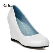 XingDeng Women Fashion Elegant Round Toe Party High Heel Shoes