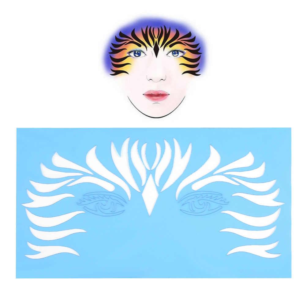 Reusable 7styles set unique and beautiful design facial paint stencil body painting template flower