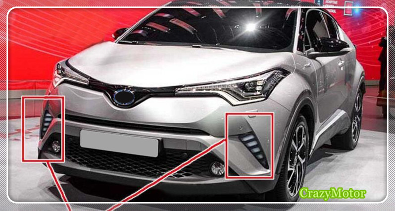 car fog lamp DRL LED daytime running lights Refit 2pcs For TOYOTA C-HR 2016 2017 2018 Car Accessories leadtops led daytime running light 2pcs 100% cob chip led diy drl fog car lights car day lamp 12v for audi vw toyota mazda be