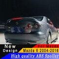 Для Mazda 6 спойлер высокого качества ABS Материал заднее крыло для Mazda 6 2004 до 2016 спойлер праймер или любой цвет задний спойлер