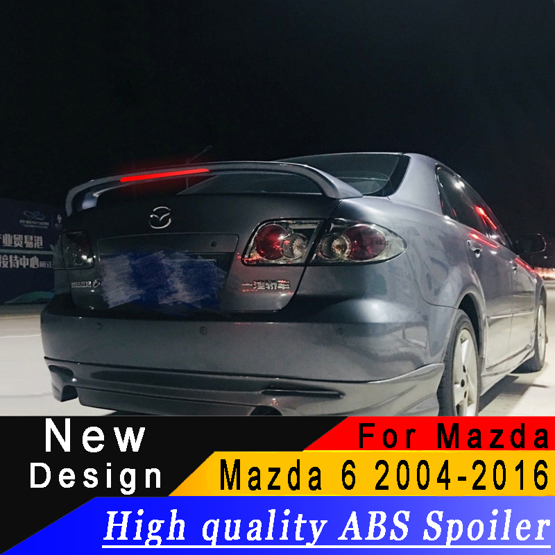 For Mazda 6 spoiler High quality ABS material Rear wing For Mazda 6 2004 to 2016 spoiler Primer or any color rear spoilerFor Mazda 6 spoiler High quality ABS material Rear wing For Mazda 6 2004 to 2016 spoiler Primer or any color rear spoiler