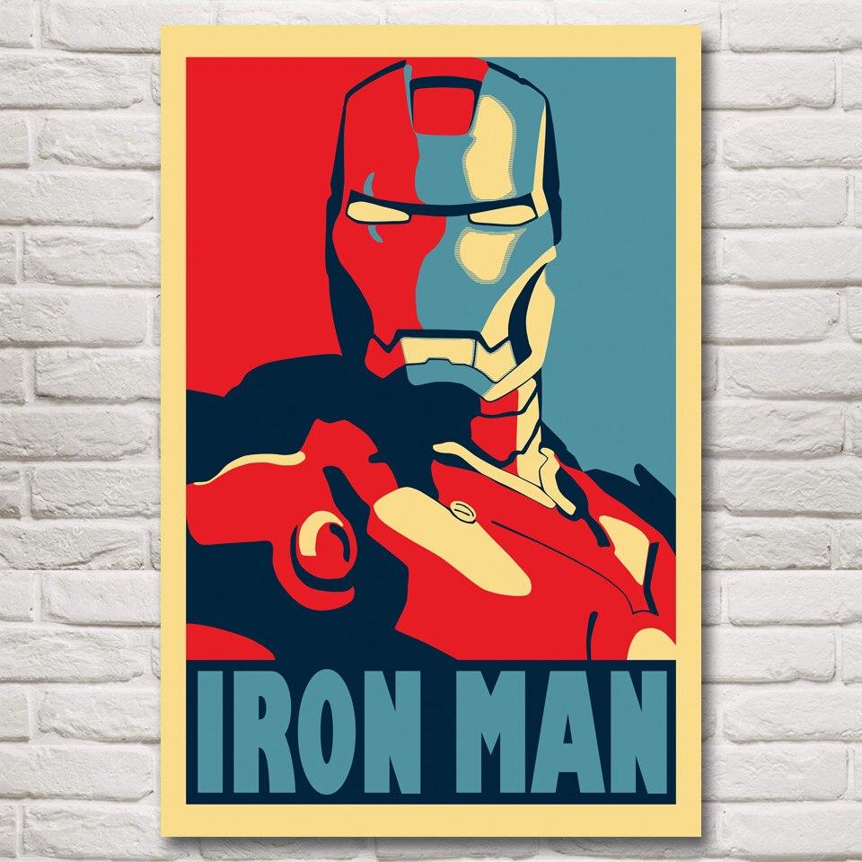 FOOCAME Iron Man Black Widow Thor The Avengers Filme Kunst Silk Poster Drucke Wohnkultur Bilder Für Wohnzimmer 32x48 zoll