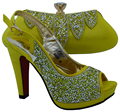 African shoe and bag set decorated with glitter italian shoe with matching bag italy shoe and bag set WTT1-9