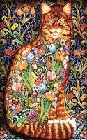 Diamond Embroidery 5D DIY Diamond Painting Beautiful Flower Cat Diamond Painting Cross Stitch Animal Rhinestone Mosaic