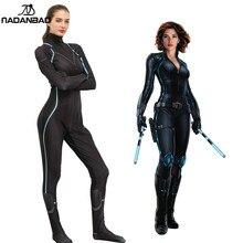 Nadanbao Black Widow Kostuum Cosplay Superhero Purim Carnaval Kostuums Vrouwen Natalia Alianovna Romanova Volwassen Plus Size Bodysuit