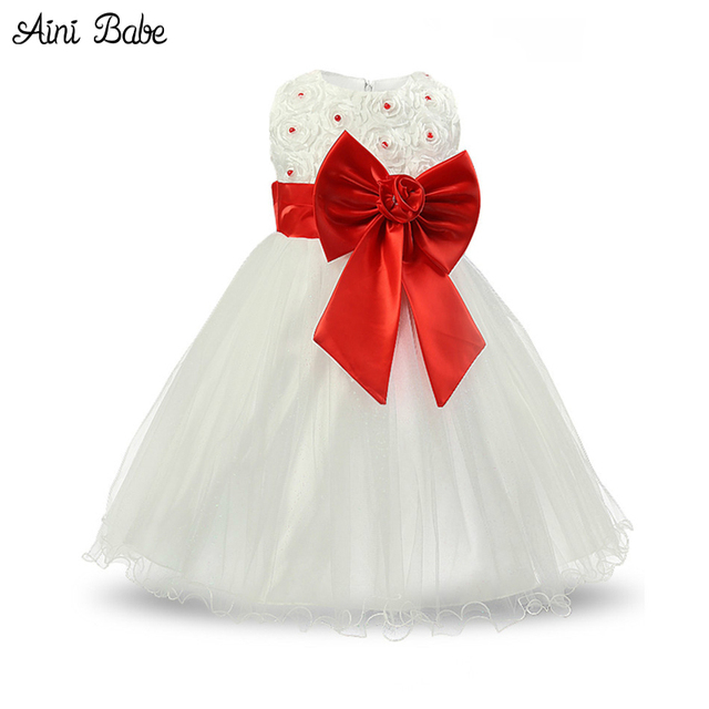 db510dcf895e Aini Babe Infant Princess Dresses For Girls Party Wear Tulle Baby ...